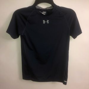 Under Armour Dark Blue Compression Tee Youth Large